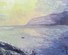 Le lac d'Annecy le soir