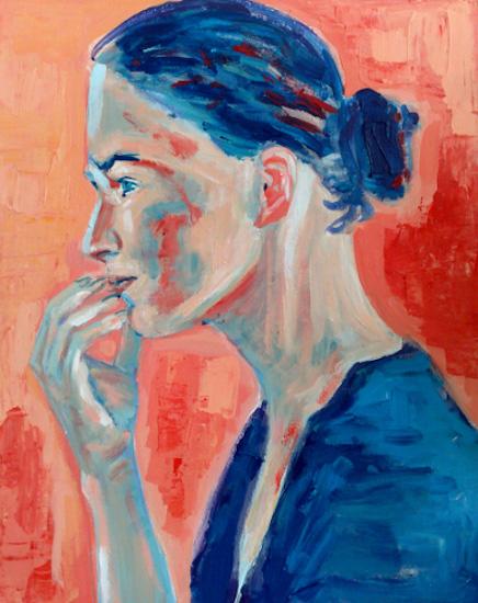Jeune fille bleue
