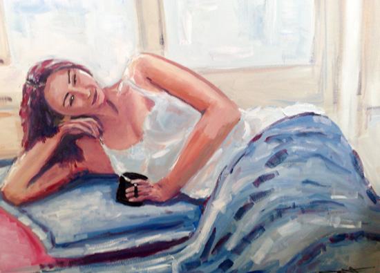 Pause sur le lit