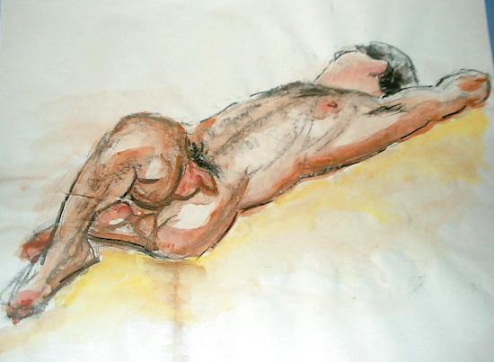 L'homme allongé