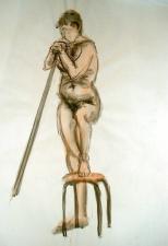 L'homme au bâton