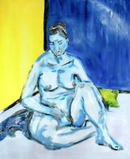 Femme assise nue