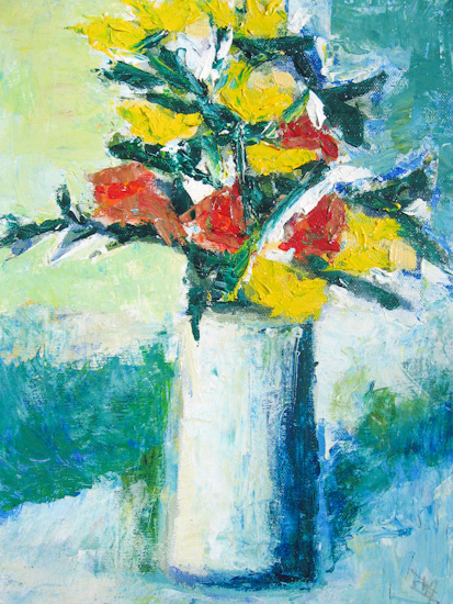 Bouquet rouge et jaune