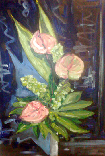 Bouquet sur fond noir