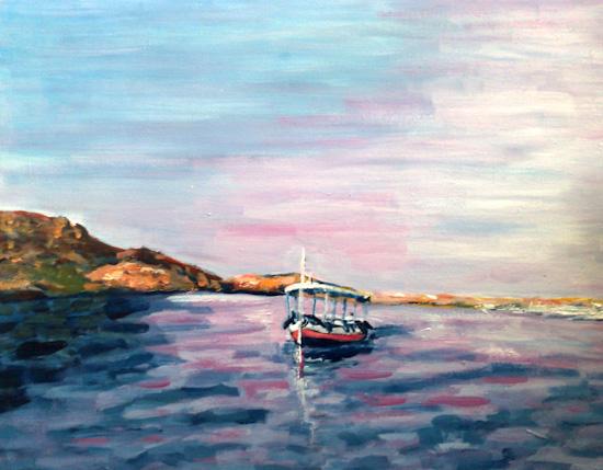 Le canot à Assouan