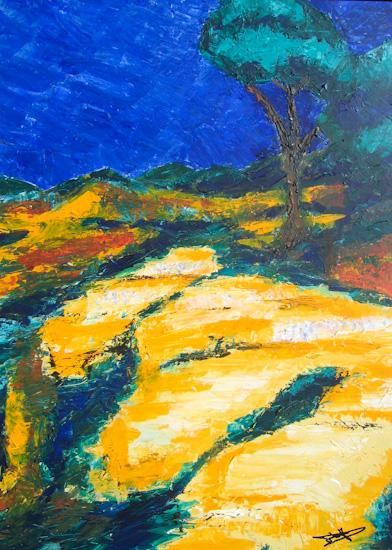 Soleil sur les rochers de Provence
