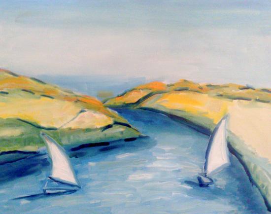 Feloukes sur le Nil