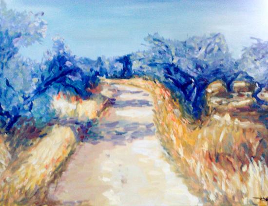 Le chemin des oliviers sur la colline de toutes Aures
