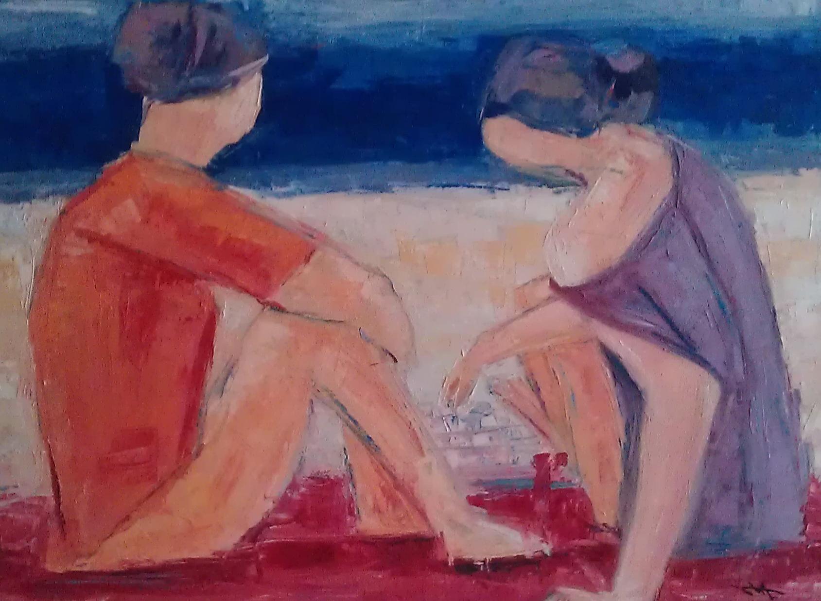 les-deux-baigneuses-jouant-sur-la-plage