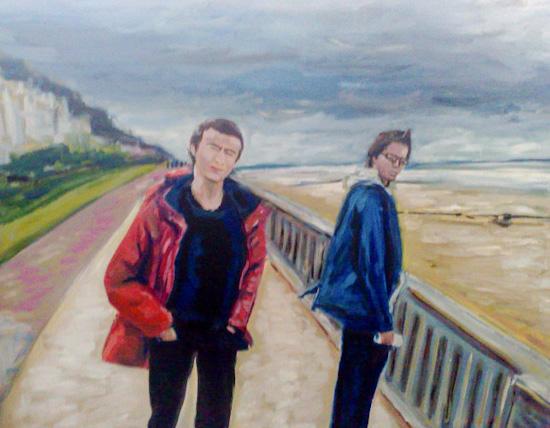 Nicolas et Vincent à Cabourg