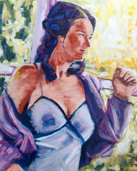 Jeune femme à l'épaule dénudée
