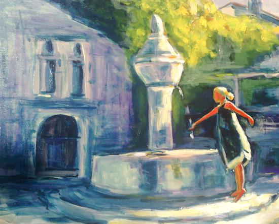 Jeune fille à la fontaine