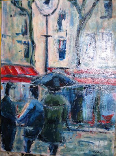 L\'homme au parapluie